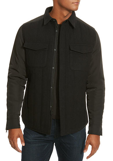 Kenneth Cole Quilted Shirt Jacket