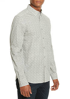 Kenneth Cole Slim-Fit Single Pocket Tossed Tri Print Shirt