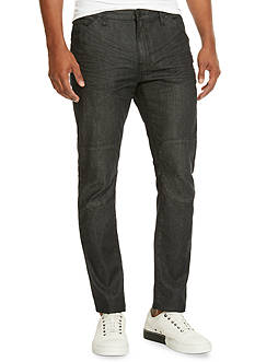 Kenneth Cole Black Slim Fit Moto Jeans
