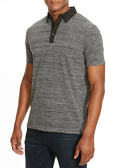 Kenneth Cole Space-Dyed Contrast Polo Shirt