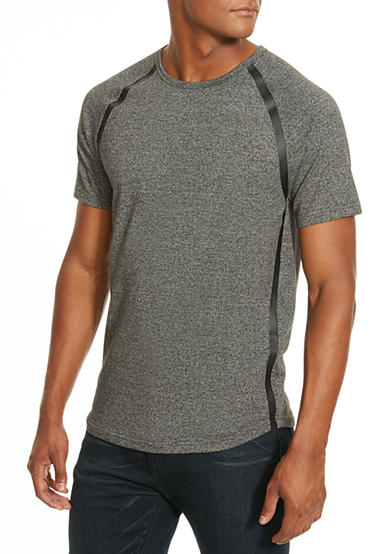 Kenneth Cole Pleather Trimmed Tee