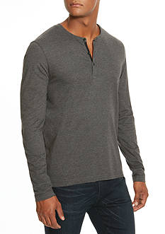 Kenneth Cole Long Sleeve Jaspe Henley Shirt