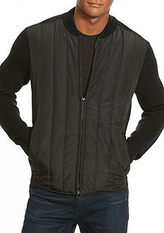 Kenneth Cole Quilted Moto Sweater