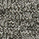 Mens Designer Sweaters: Charcoal Heather Kenneth Cole Marled Bomber Sweater