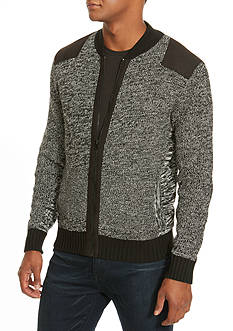 Kenneth Cole Marled Bomber Sweater