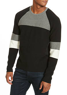 Kenneth Cole Colorblock Crew Neck Sweater