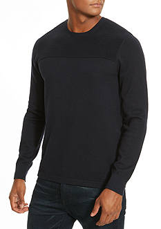 Kenneth Cole Textured Solid Crew Neck Sweater
