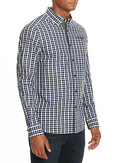 Kenneth Cole Slim-Fit Single Pocket Gingham Shirt