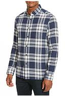 Kenneth Cole Long Sleeve Single Pocket Flannel