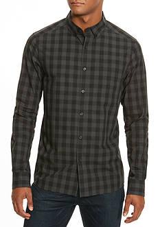 Kenneth Cole Long Sleeve Tonal Plaid Shirt