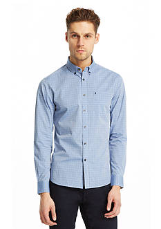 Kenneth Cole New York Slim-Fit Long Sleeve Iridescent Check Shirt