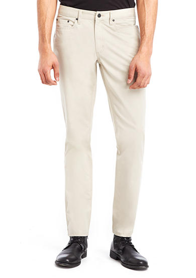 Kenneth Cole Flat-Front 5-Pocket Sateen Pants