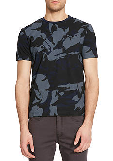 Kenneth Cole New York Short Sleeve Crew Neck Camo Print T-Shirt
