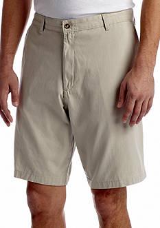 Saddlebred® Flat Front 10 Twill Shorts