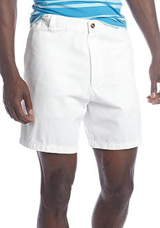 Saddlebred® 7-in Flat Front Twill Shorts