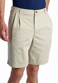 Saddlebred® Big & Tall 9-in. Pleated Shorts