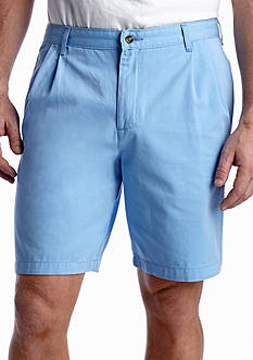 Saddlebred® Big & Tall 9-in. Pleated Twill Shorts