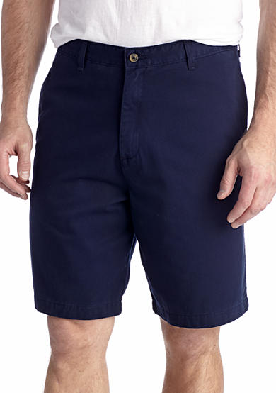 Saddlebred® 9-in. Flat Front Twill Shorts