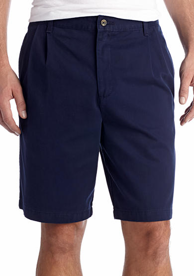 Saddlebred® Big & Tall 11-in. Pleated Twill Shorts