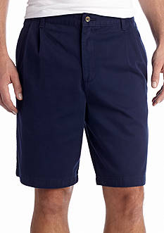 Saddlebred Big & Tall 11-in. Pleated Twill Shorts