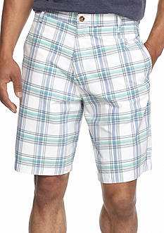 Saddlebred® 9-in. Plaid Shorts