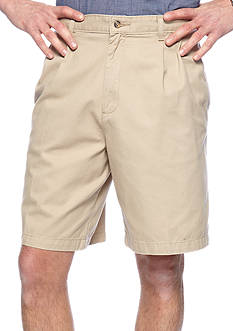 Saddlebred Big & Tall Pleated Twill Shorts