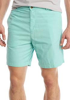 Saddlebred 7-in Flat Front Oxford Shorts