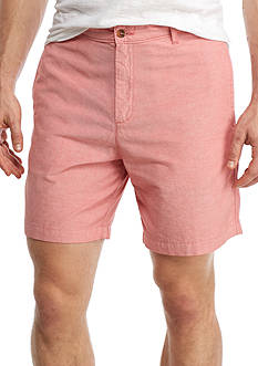 Saddlebred 7-in Flat Front Oxford Shorts