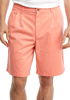 Saddlebred Big & Tall 9-in Pleated Shorts