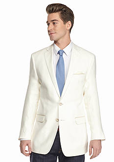 Tallia Orange Slim-Fit Cream Linen Sport Coat