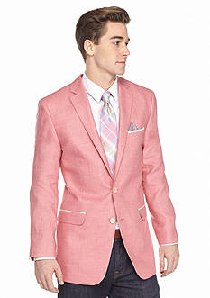 Tallia Orange Slim-Fit Pink Linen Sport Coat