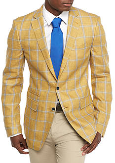 Tallia Orange Classic-Fit Windowpane Sport Coat