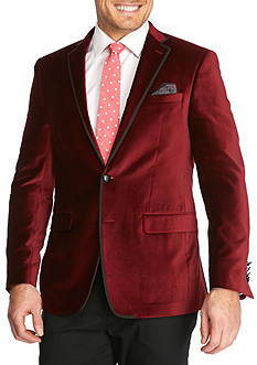 Tallia Orange Slim Fit Velvet Sport Coat