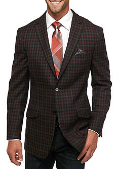 Tallia Orange Slim Fit Check Wool Sport Coat