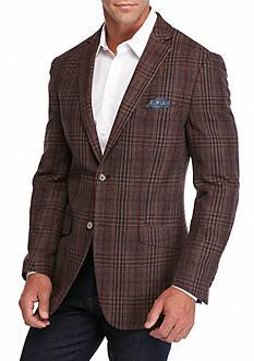 Tallia Orange Slim-Fit Check Sport Coat