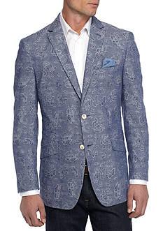 Tallia Orange Slim-Fit Paisley Jacquard Sport Coat