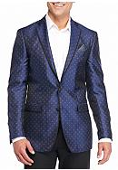 Tallia Orange Slim-Fit Paisley Sport Coat