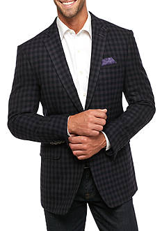Tallia Orange Slim Fit Wool Check Sport Coat