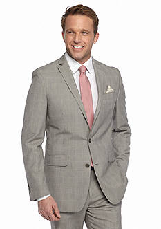 Tallia Orange Slim-Fit Plaid Suit Separate Sport Coat