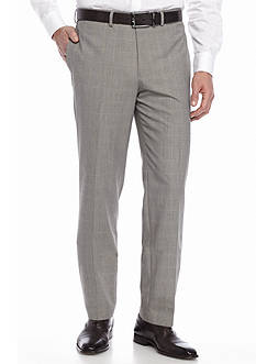 Tallia Orange Slim-Fit Plaid Suit Separate Dress Pants