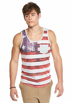 Red Camel American Flag Tank