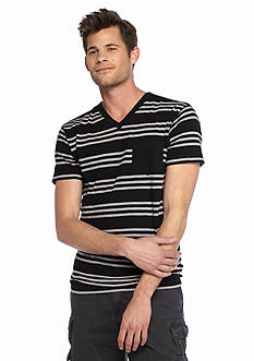 Red Camel® Short Sleeve Triple Stripe V-Neck T-Shirt
