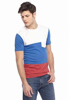 Red Camel Short Sleeve Triblocked Crew T-Shirt