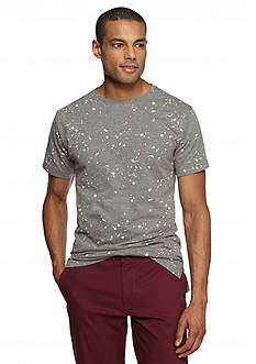 Red Camel® Short Sleeve Paint Splatter Longer Tee