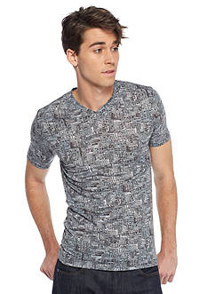 Red Camel® Short Sleeve Building All Over Print Knit Shirt