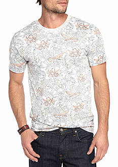 Red Camel Short Sleeve Reverse Print Tee Shirt