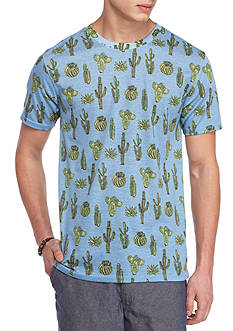 Red Camel Short Sleeve Crazy Cactus Crew Neck Tee
