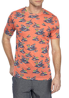 Red Camel Short Sleeve Tiki Hut Sublimated Crew Neck Tee