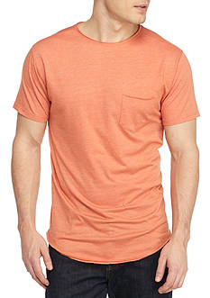 Red Camel® Short Sleeve Crew Neck Scoop Hem Shirt