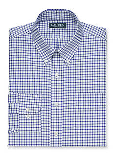 Lauren Ralph Lauren Dress Shirt Classic-Fit Checked Twill Dress Shirt